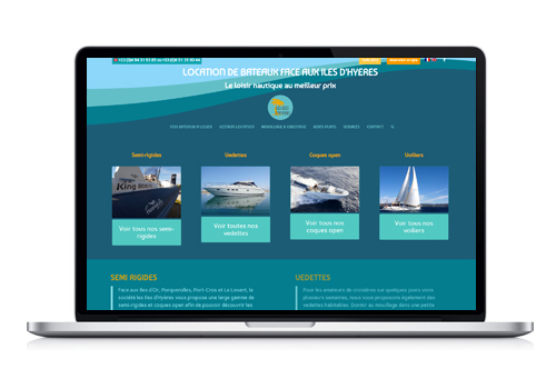 Création site Internet Les Iles d'Hyères